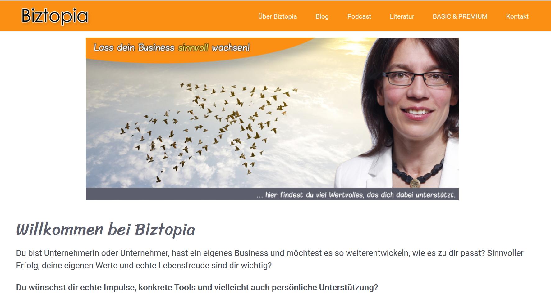 Mein neues Online-Angebot: Biztopia unterstützt Unternehmer, Freiberufler und Solopreneure beim sinnvollen Wachstum 2